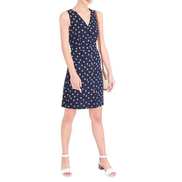 J. Crew Dresses & Skirts - NWT | J Crew | Navy Yellow Floral V Neck Dress